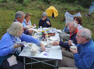 Dining on the Druk Path Trek
