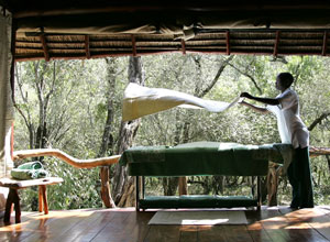 Enjoy a massage at the Masai Wellbeing Space