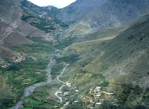 Enjoy fine views while hiking in the Atlas Mountains