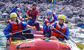 White water rafting in the Sacred Valley
