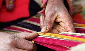 Textile weaving in Peru