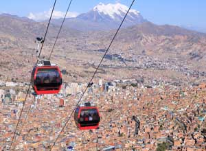 La paz - view from cable car