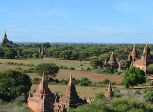 The temple plains of Bagan