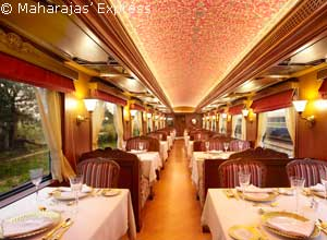 Dine in Rang Mahal on the Maharajas Express