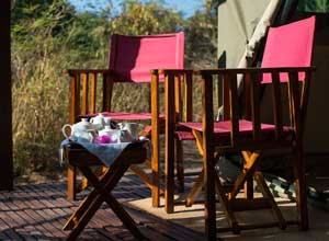 Tea on your private deck at Mandrare River Camp