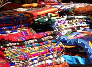 Pisac market textiles