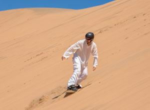 Dune boarding near Swapokmund