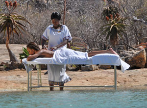 Relax with a massage at Camp Amalinda